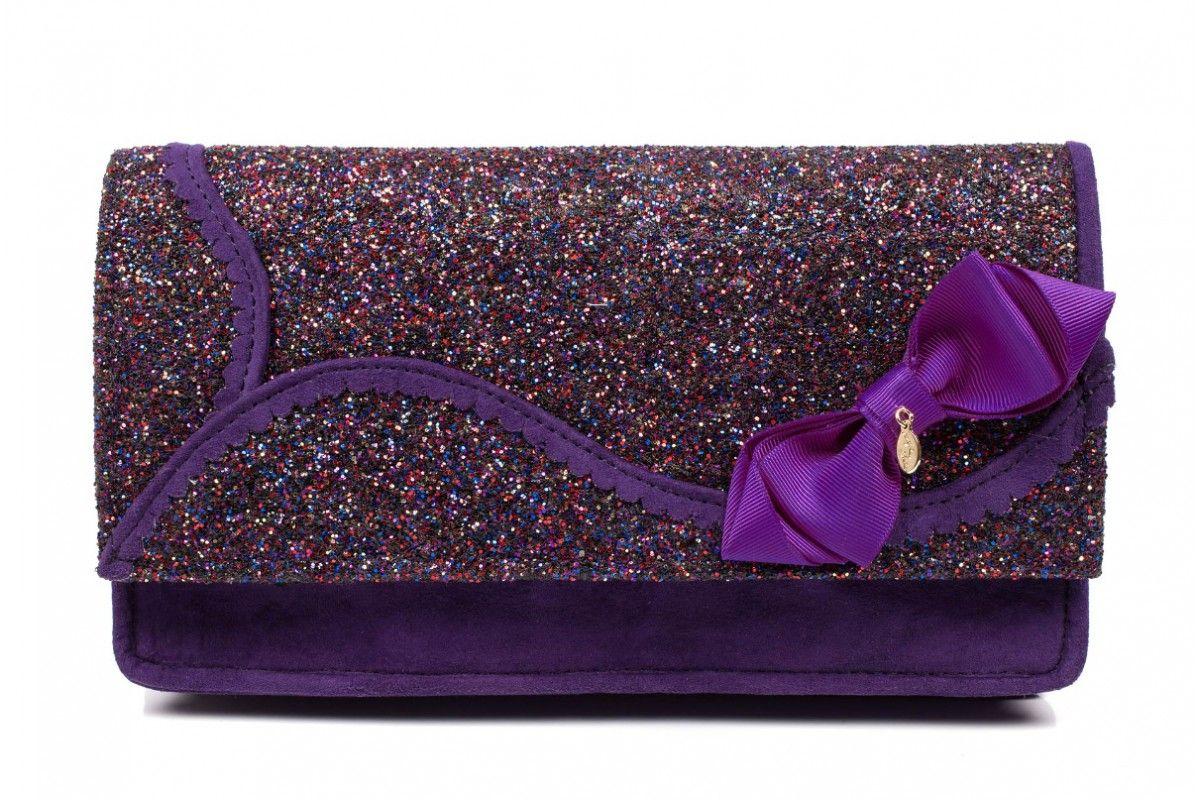 Clutch Autumn Glitter Winter Choice Kanjanka Purple Bag Irregular qR6OBawx
