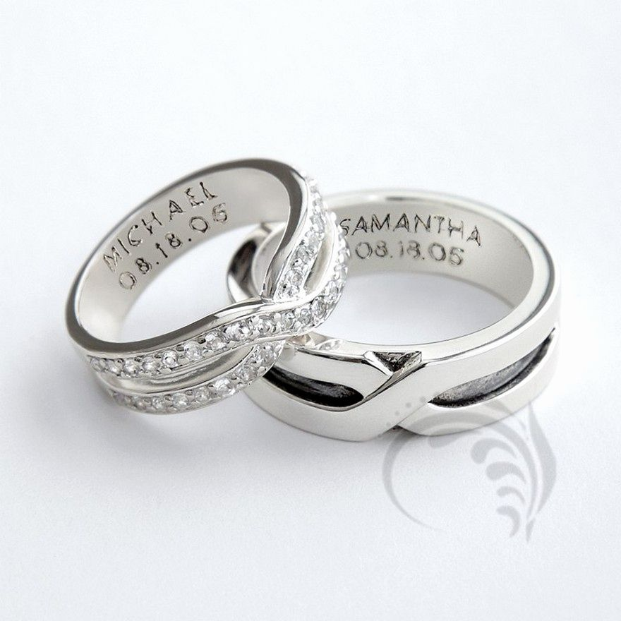 Inspirational 1 Sample His And Her Wedding Ring Set Cincin Perkawinan Cincin Tunangan Emas Putih