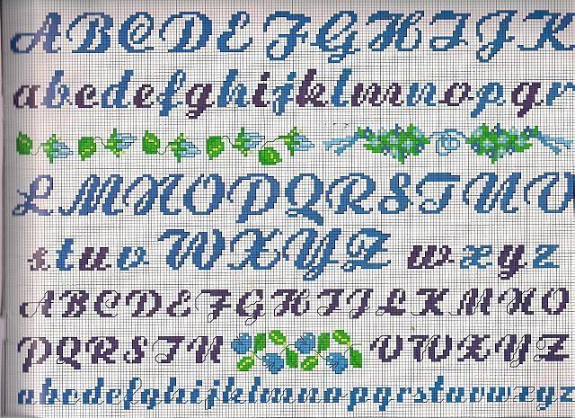 Alfabeti e numeri punto croce uncinetto for Ricamo punto croce lettere
