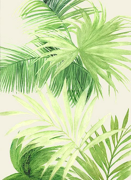Abstract Palm Tree Leaf Painting 9x12 by JenniferFlanniganart ...