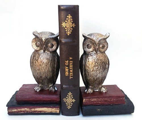Bombay Wide Eyed Owl Bookend #Bookend #Brown #Ornaments