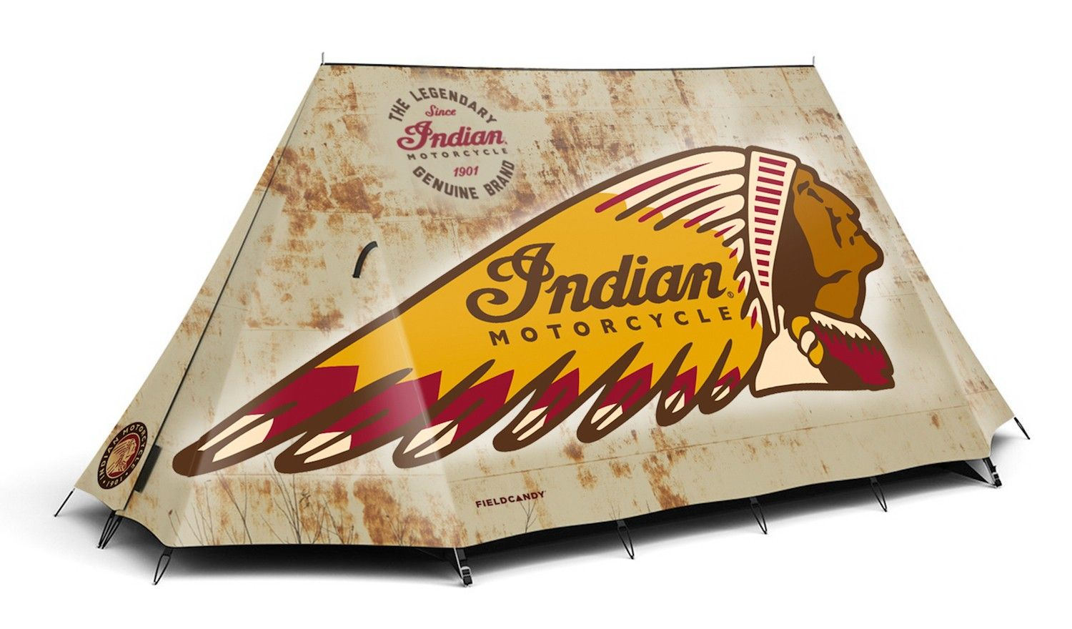 Indian Motorcycle Tent - 2 Man C&ing Tent in collaboration with Indian Motorcycle. High Specification Waterproof A-Frame Tent for 4 Season Use.  sc 1 st  Pinterest & Indian Motorcycle Camping Tent | FieldCandy | motorcycle camping ...