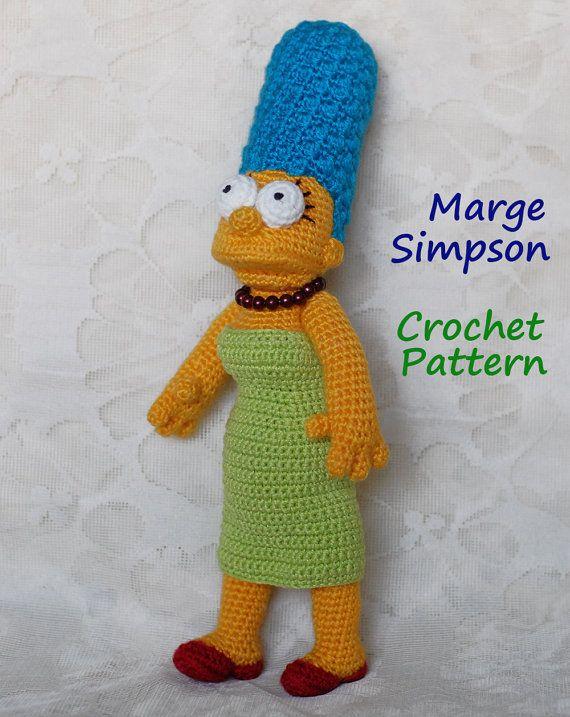 Gehäkelte Muster. Marge Simpson von InspiredCrochetToys auf Etsy ...