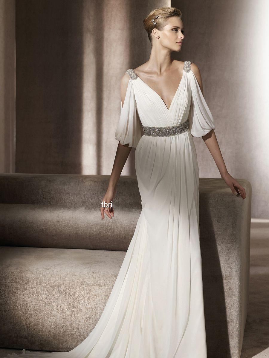 Greek style dress my first option my dream wedding pinterest