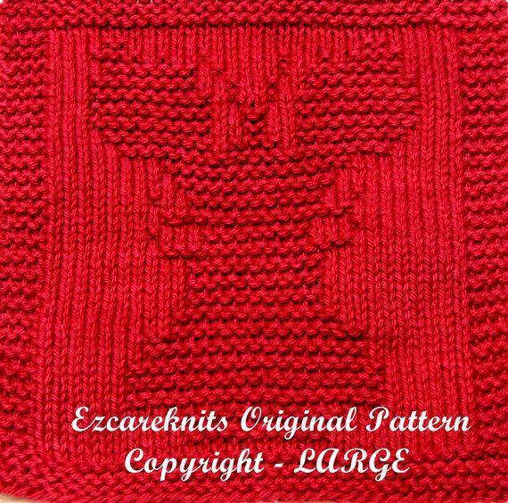 Baby Washcloths Knitting Patterns: Knitting Cloth Pattern LARGE LOBSTER PDF By Ezcareknits On
