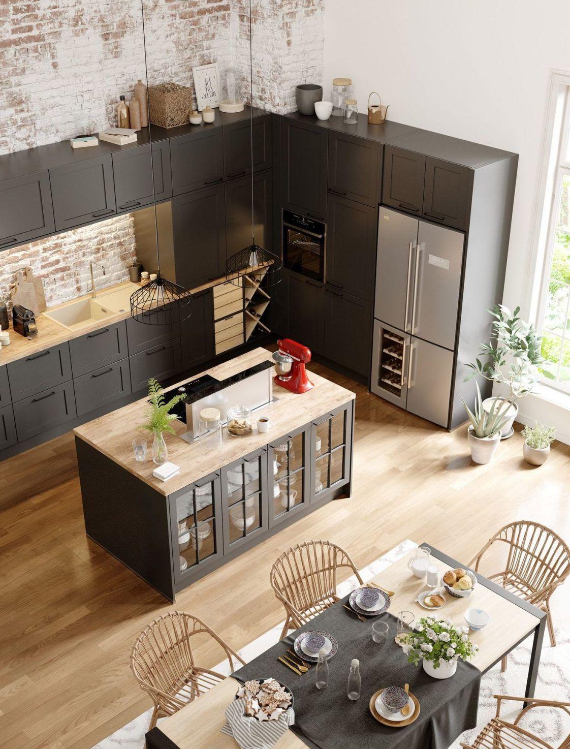 Cuisine ouverte sur salon ou salle à manger  exemples à copieur ...