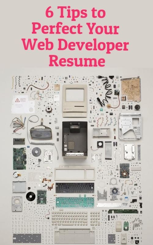 Improve Your Web Development Resume with These 6 Skills Tech - web development resume