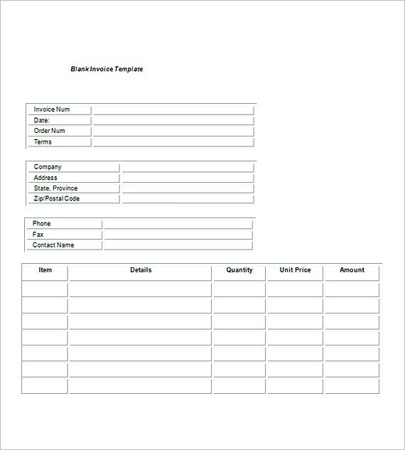 Blank Service Invoice templates , Invoice for Services Template