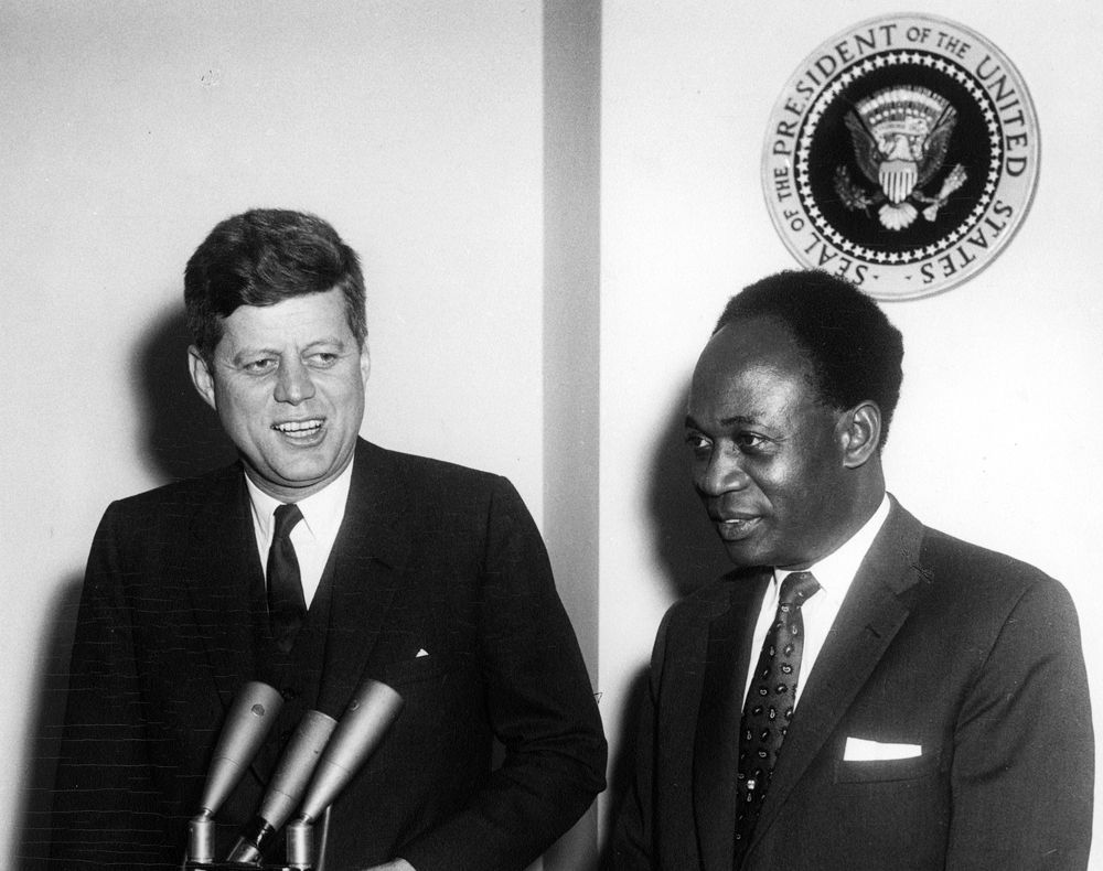 Meeting between US President John F. Kennedy and Kwame ...