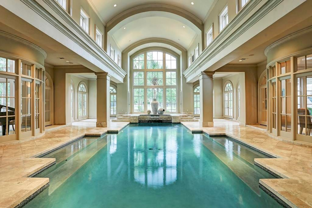 Briarforest Area Home For Sale Luxury Swimming Pools Indoor Swimming Pool Design Indoor Pool Design