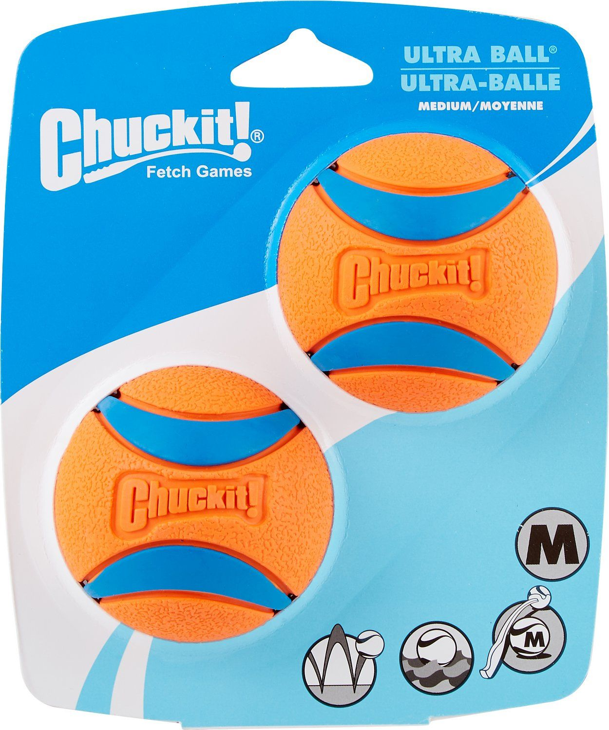 Chuckit! Ultra Rubber Ball Dog Toy, Medium, 2 pack Chewy