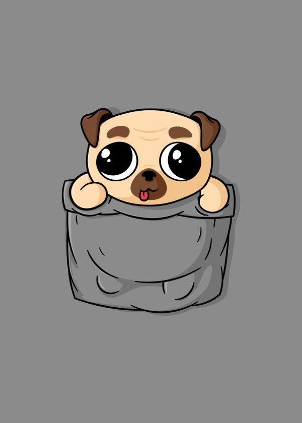Displate Poster Cute Pocket Pug cute #pocket #pug #animal ...