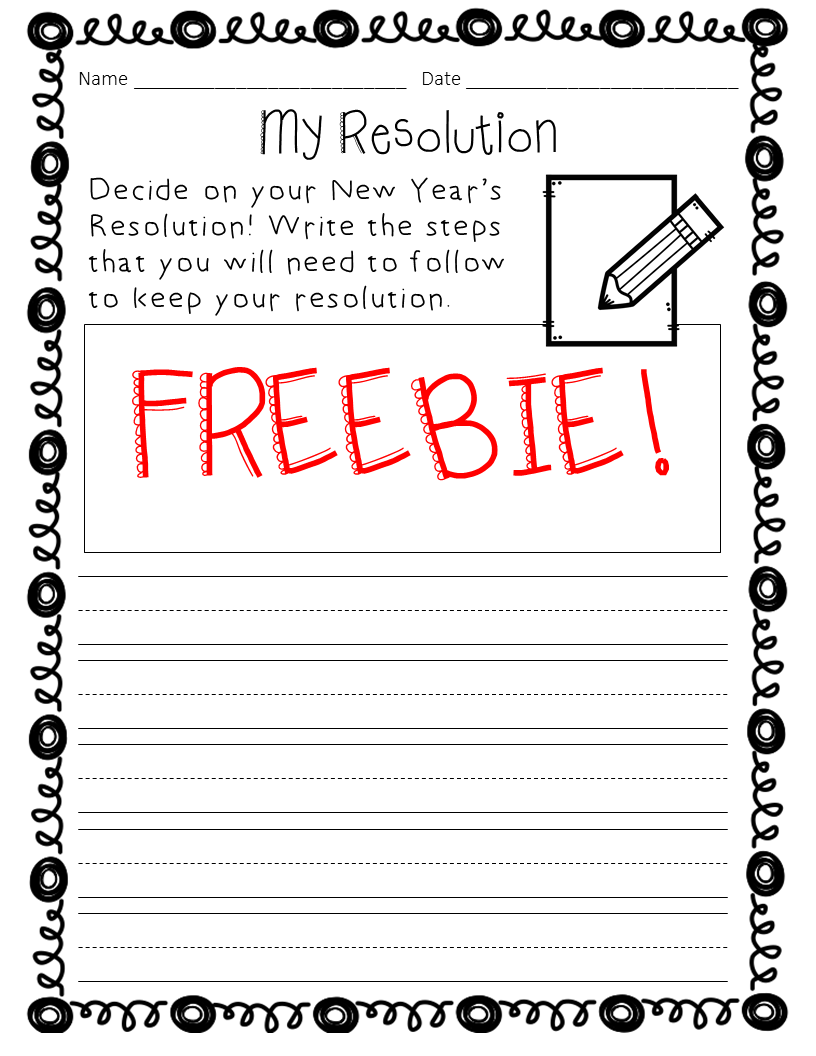 New Year S Resolution Writing Prompt Freebie Free Writing Prompts Second Grade Writing Sequence Writing [ 1056 x 816 Pixel ]