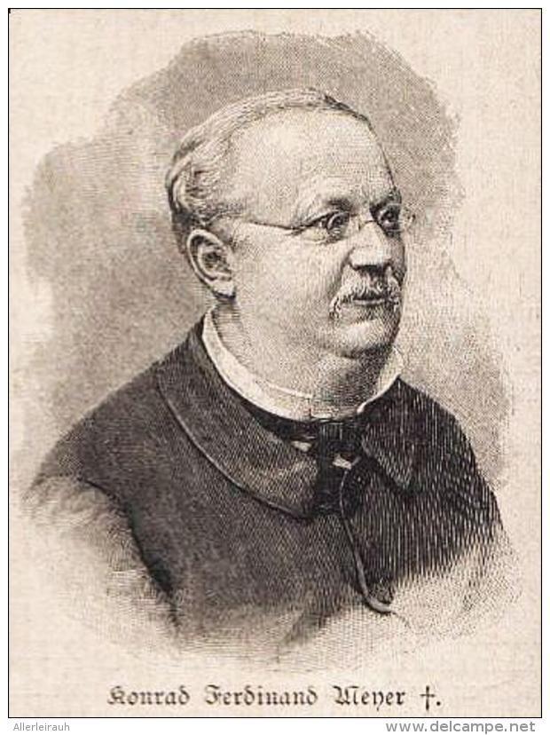 Konrad Ferdinand Meyer Druck Entnommen Aus Die Gartenlaube 1898 Artikelnummer 399153988 Gartenlaube Laub Und Drucken