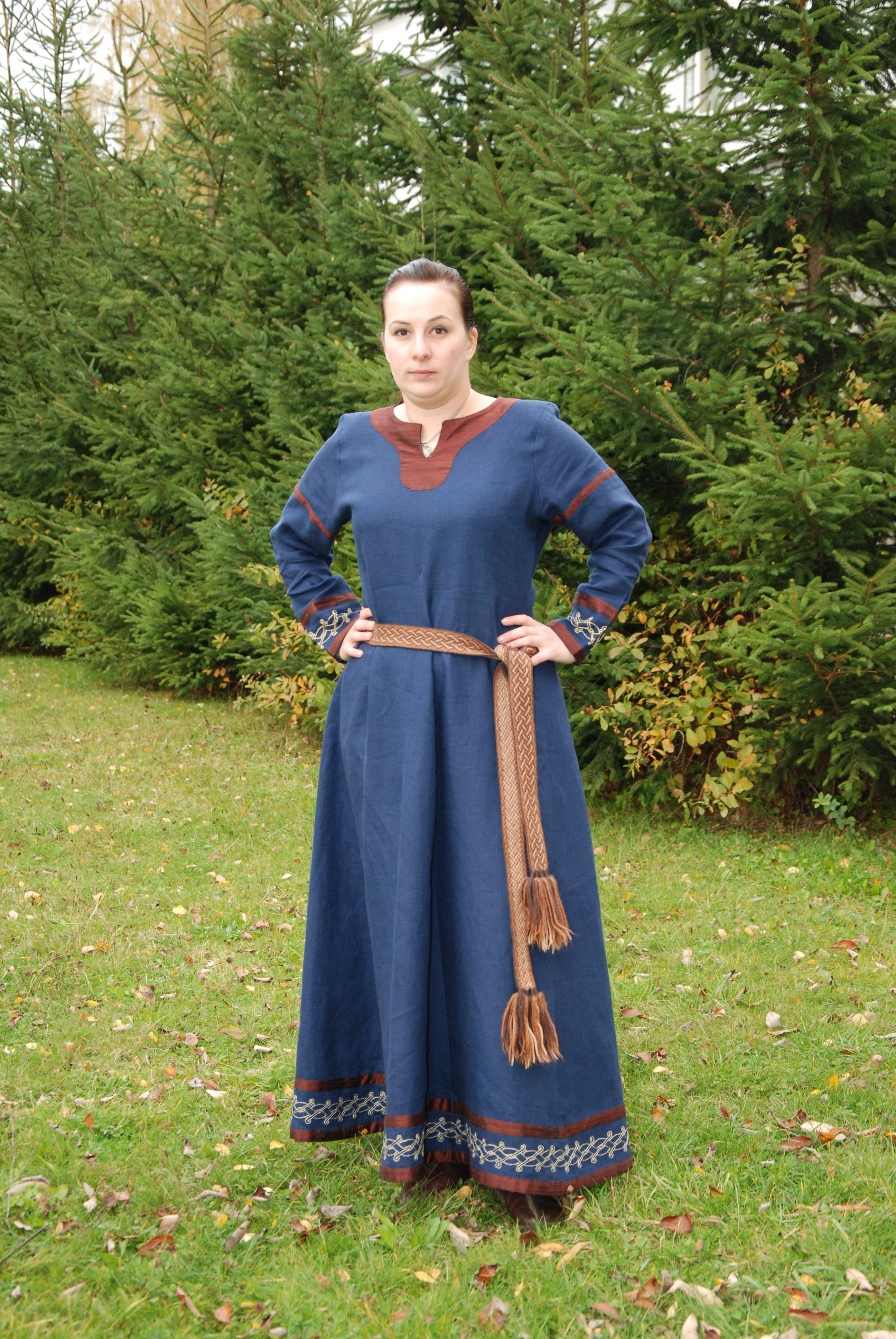303eff9c82d Sam s Linen Viking Dress - Belt View - Othala Craft (working on one like  this for myself right now