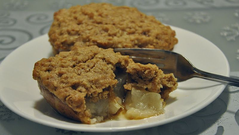 Aunt B on a Budget: Baked Pear With An Oatmeal And Maple Cookie Crust