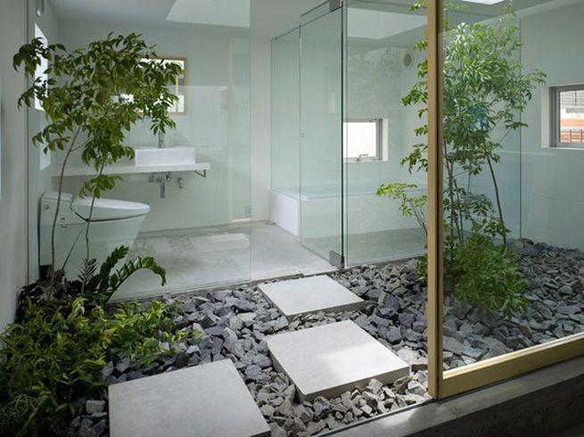Ba os con jard n arbol pinterest ba os feng shui y for Decoracion de interiores 3d