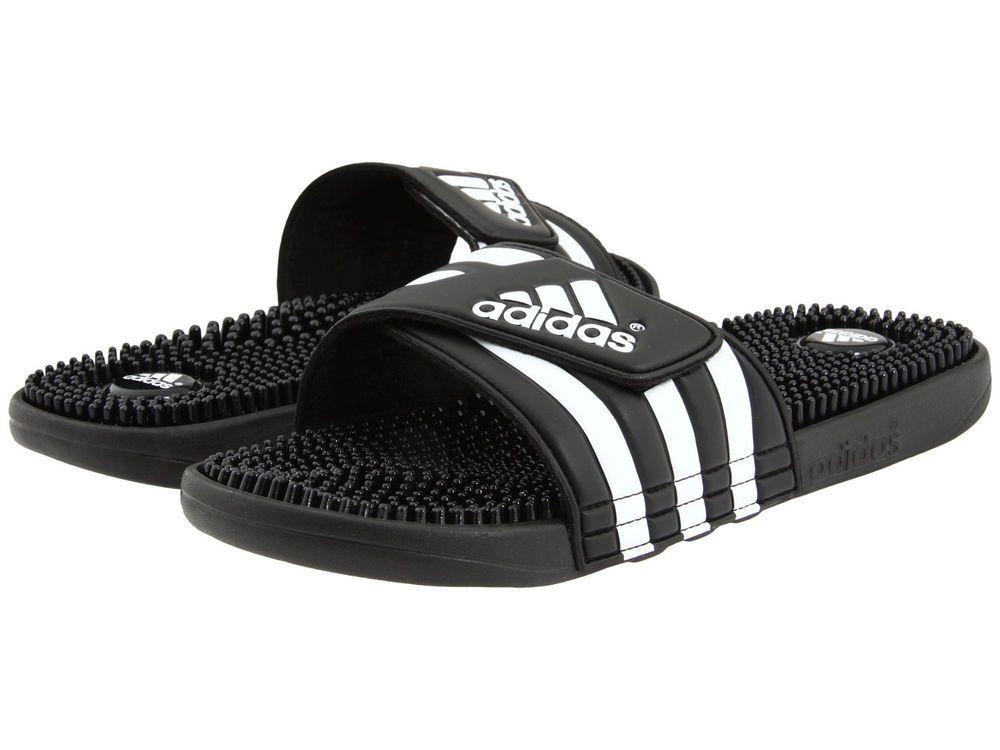 87db52aeb090d3 fashion Mens Adidas Adissage Black Slides Shower Athletic Sport Sandals  078260 Size 7-15