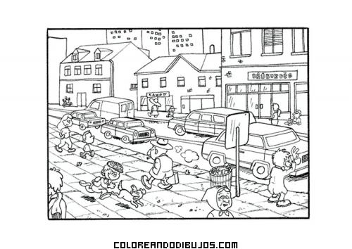 Dibujo Para Colorear De Gente Que Camina Por La Ciudad Busqueda De Google Paisaje Rural Imagenes De Comunidad Dibujos Para Preescolar