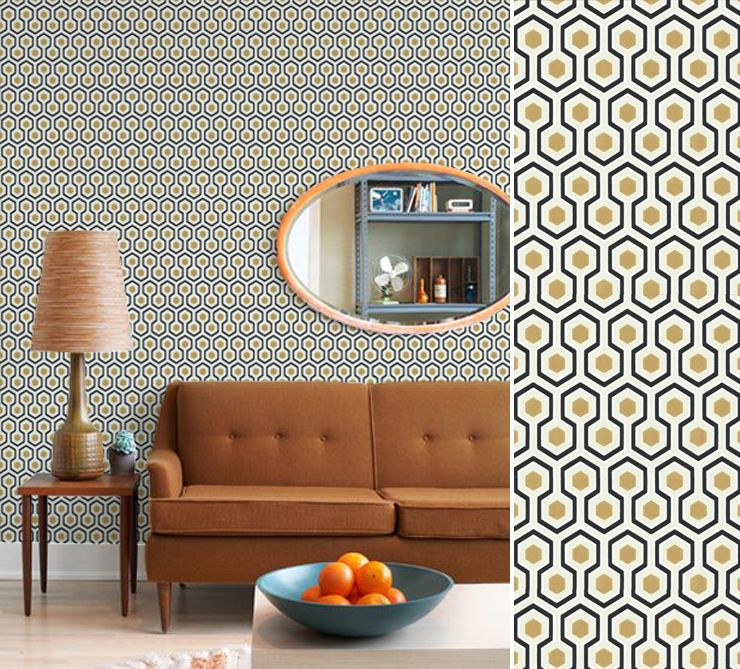 Papier Peint Vintage Hick S Hexagon Salon En 2018 Pinterest