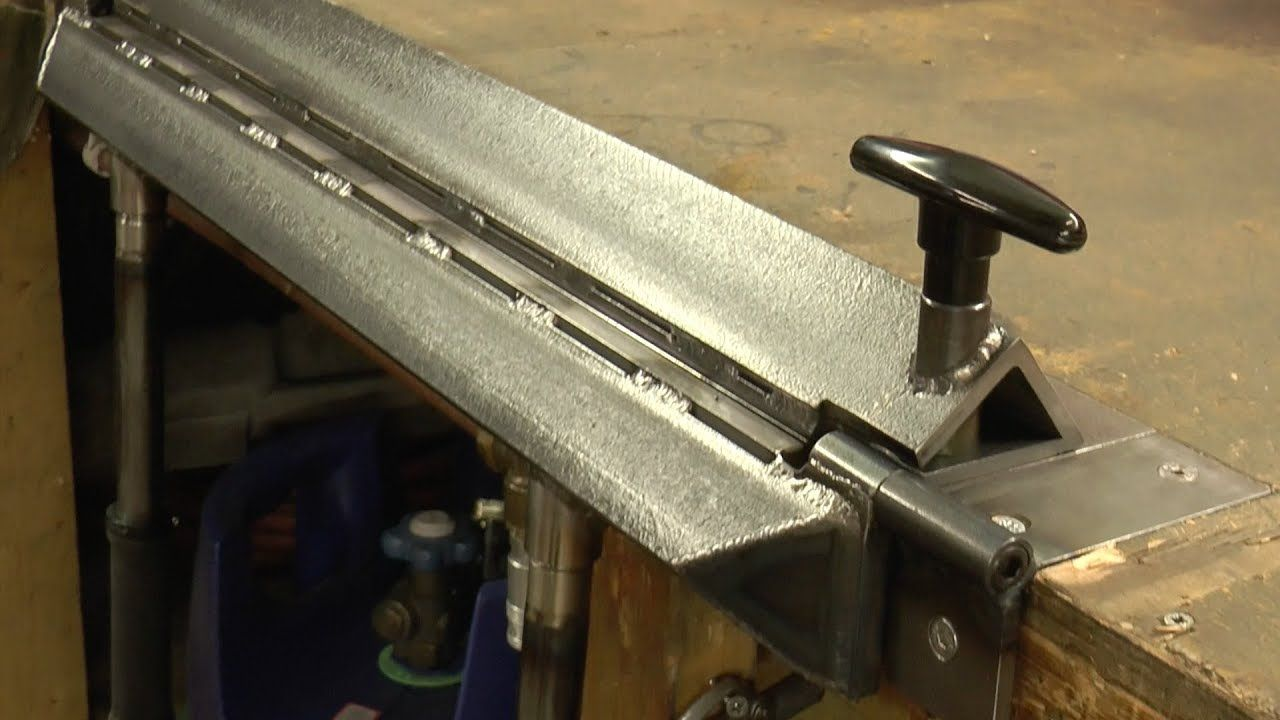 Making An Inset Bench Metal Folder Brake Youtube Sheet Metal Bender Metal Work Bench Sheet Metal Tools