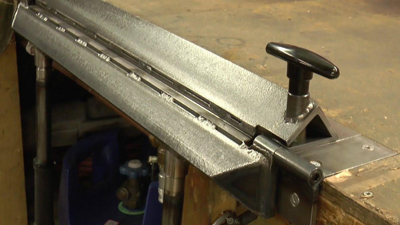 Making An Inset Bench Metal Folder Brake Youtube Metal Bending Tools Sheet Metal Bender Sheet Metal Tools
