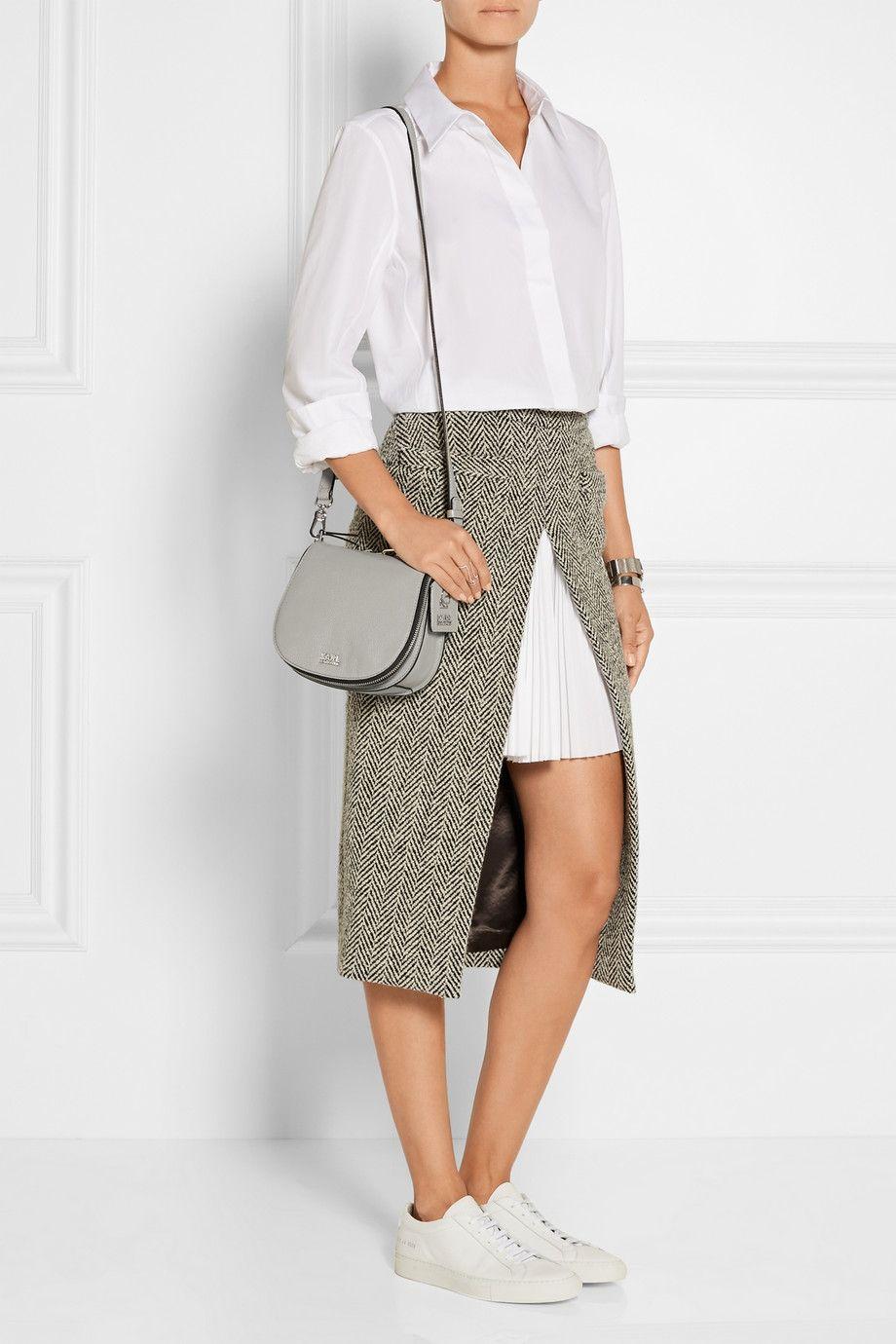 Karl Lagerfeld|Textured-leather satchel|NET-A-PORTER.COM