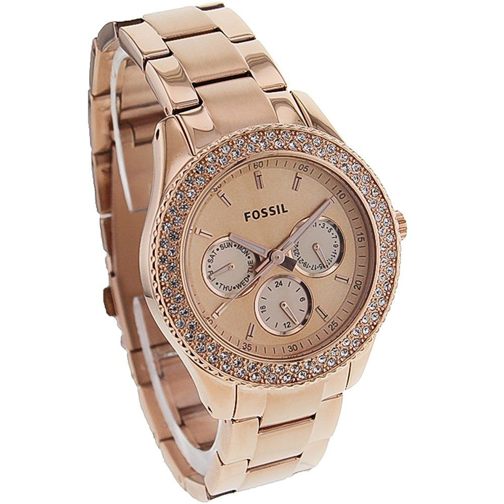 Fossil Women\'s ES3003 Stainless Steel Analog Pink Dial Watch ...