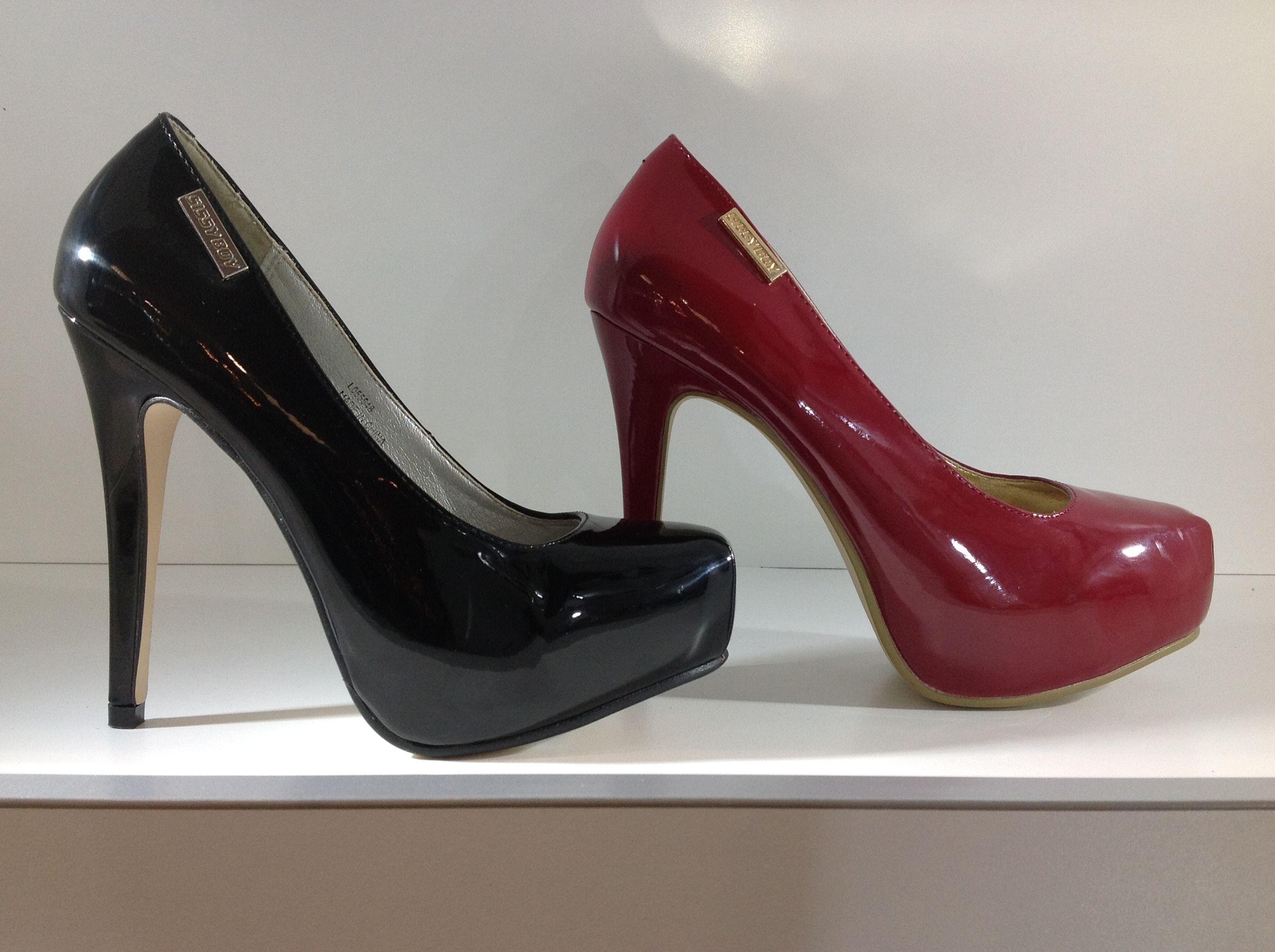 bd8e04fbf7e4 Sissy Boy Black   Red Patent Leather High Heel Platform