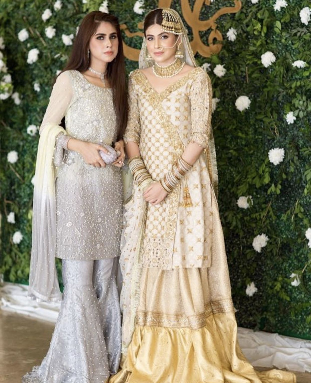 Dulhaan In Off White Gharara Bridal Wear In 2019 Dresses