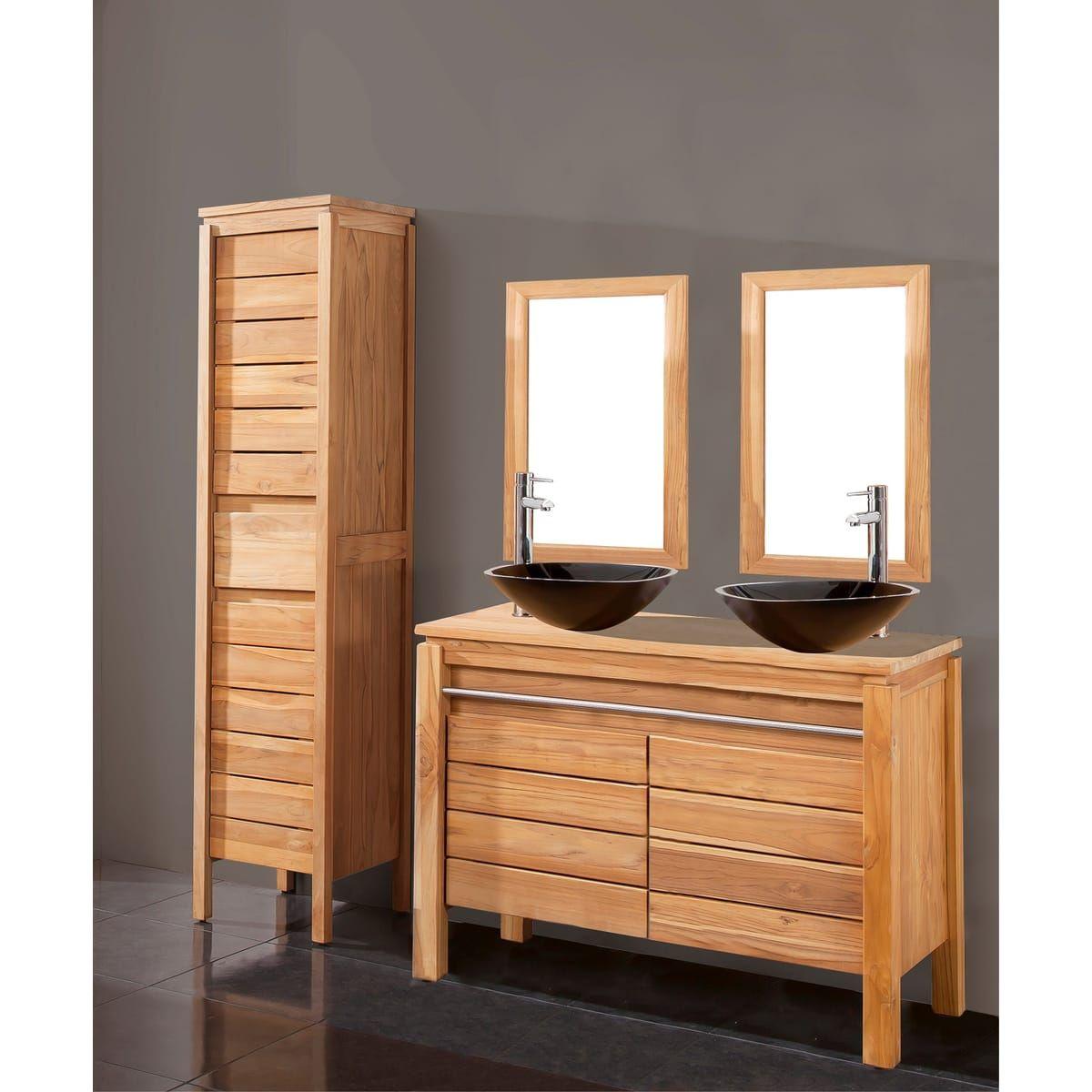 meuble salle de bain teck auchan
