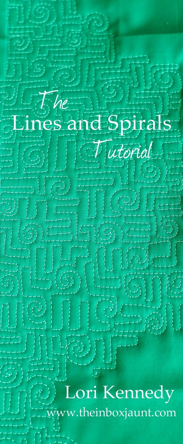 The Lines and Spirals Free Motion Quilt Tutorial | Acolchados y Tablero