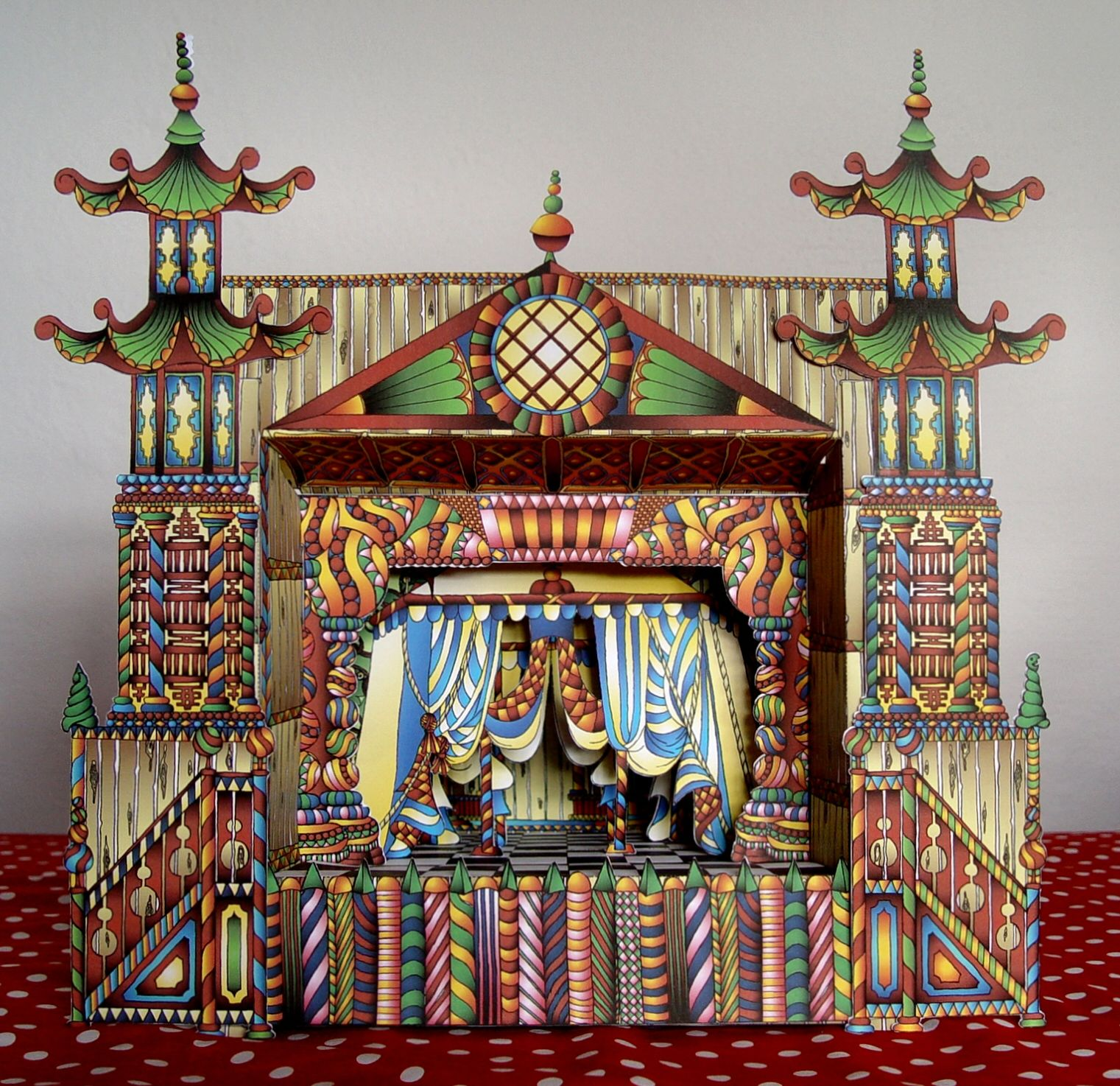 Funky Modern Paper Theater by Paper Matrix
