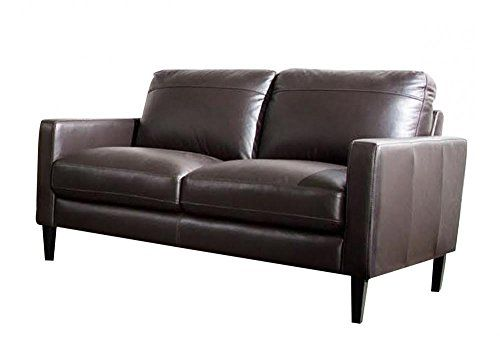 Omega Top Grain Leather Loveseat In Dark Chocolate With Images Love Seat Leather Loveseat Furniture Arrangement