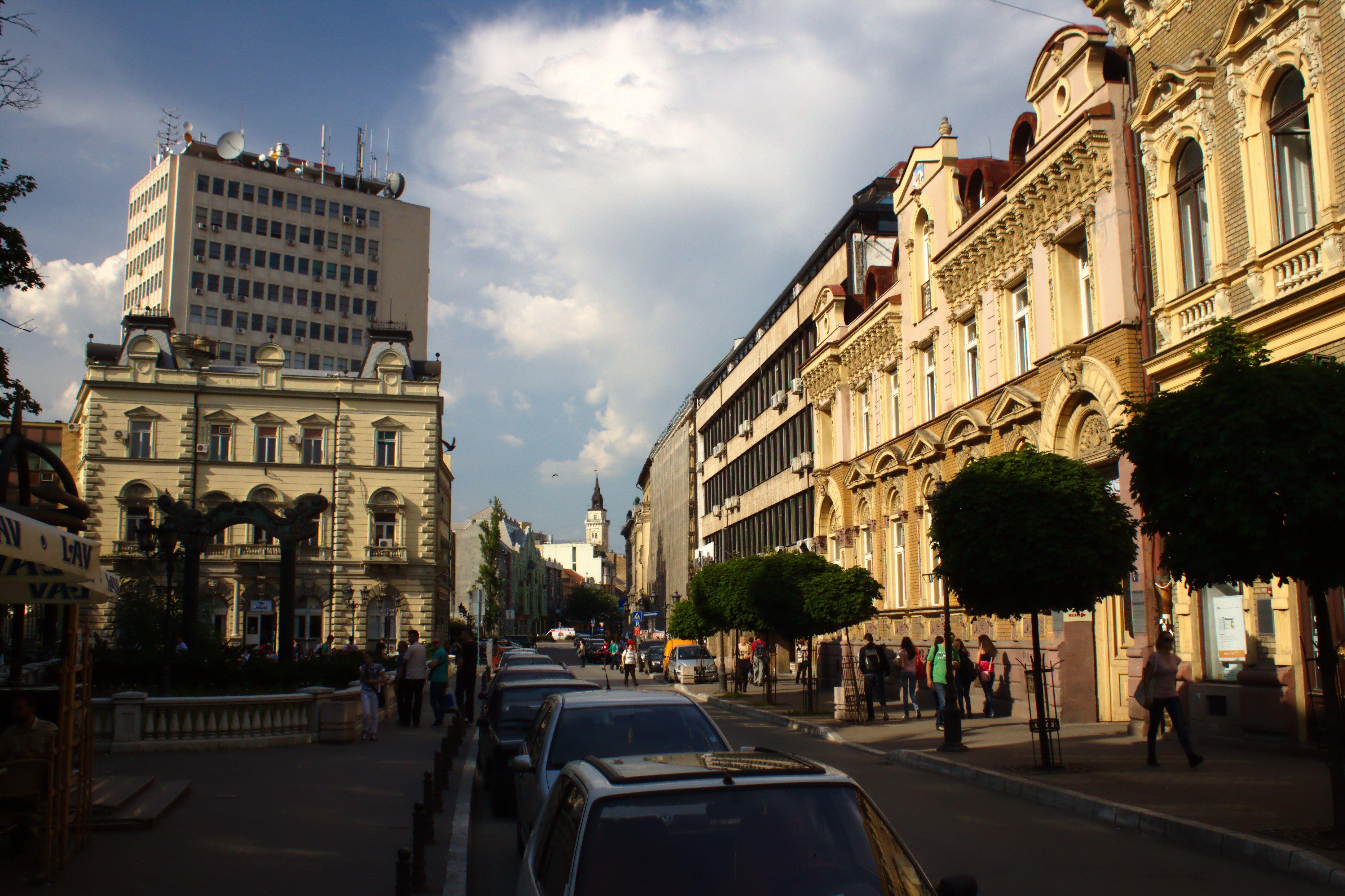 Zeleznicka street, Novi Sad, Serbia