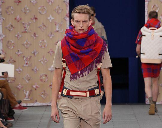 Louis Vuitton Men's Spring/Summer 2012: Red Scarf