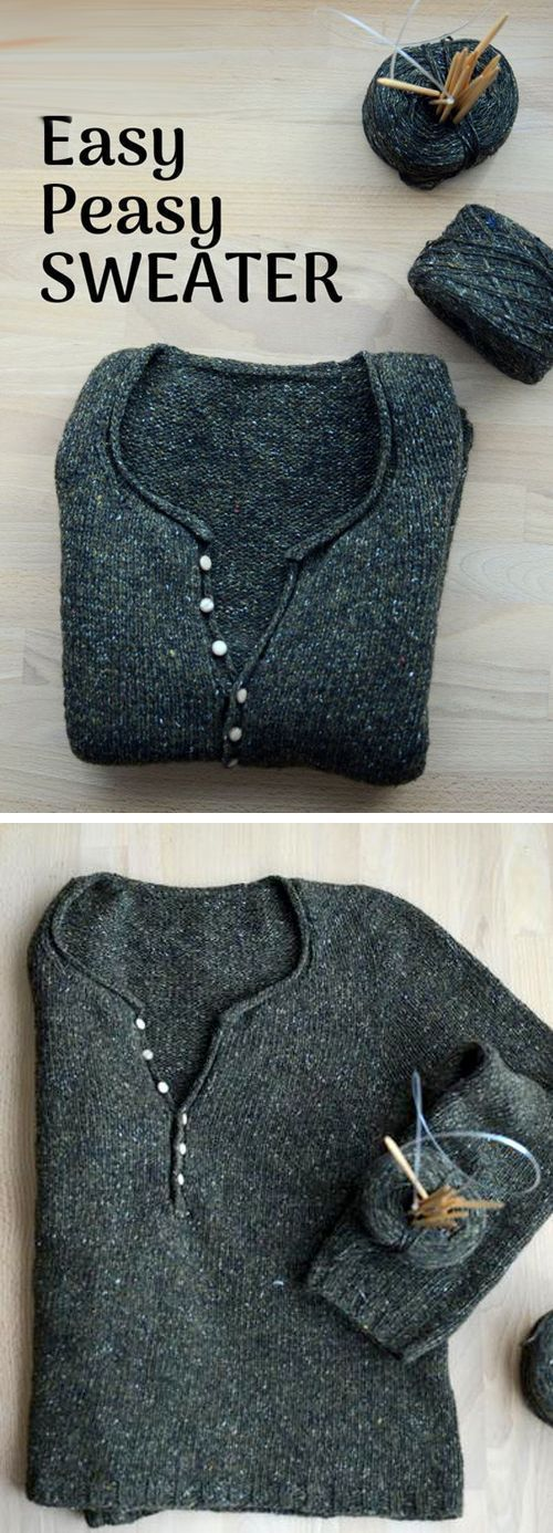 Photo of Simply Fast Simply Knitted Sweater – Free Pat / #Fast #free #Knitted #Loomideas …