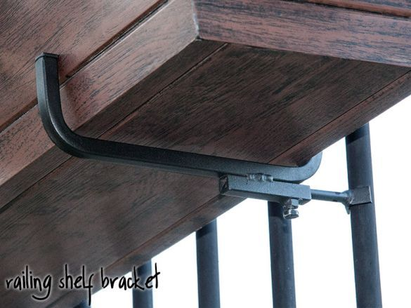 Railing Shelf Bracket 8 1 2in Shelf Pair With Images