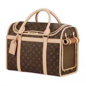 for my maltipoo - Louis Vuitton Outlet Online Sale DOG BAG 40 Monogram canvas Gold details