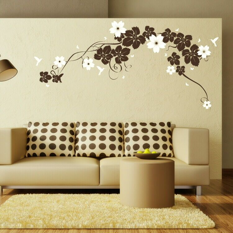 LARGE VINE Butterflies Flowers Wall Art Stickers Giant Stencils -  custom pontoon decals