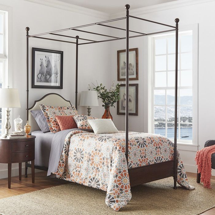 Rockledge Upholstered Canopy Bed Farmhouse canopy beds