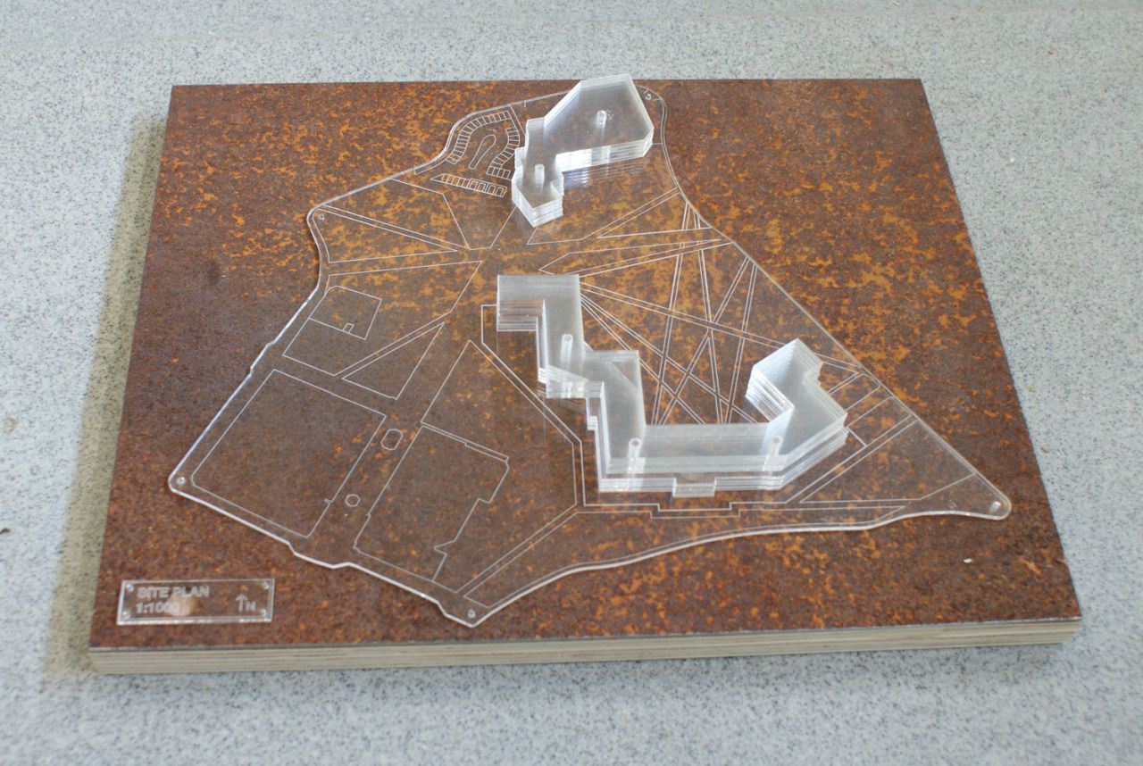 Site model scale 1:1000 Made from laser cut perspex mounted onto ...