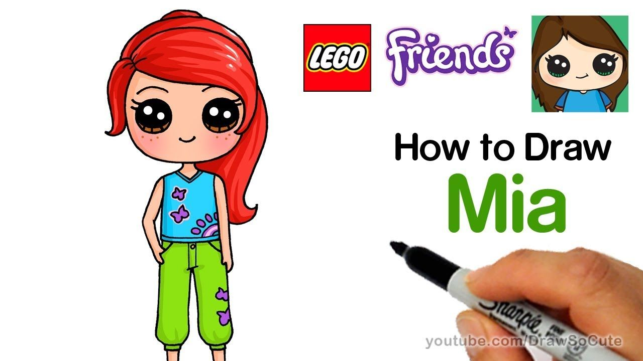 How To Draw Lego Friends Mia Easy Art In 2019 Kawaii Drawings