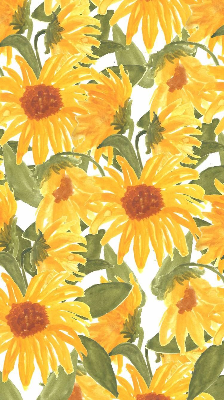 Sunflower wallpaper Phone backgrounds Pinterest