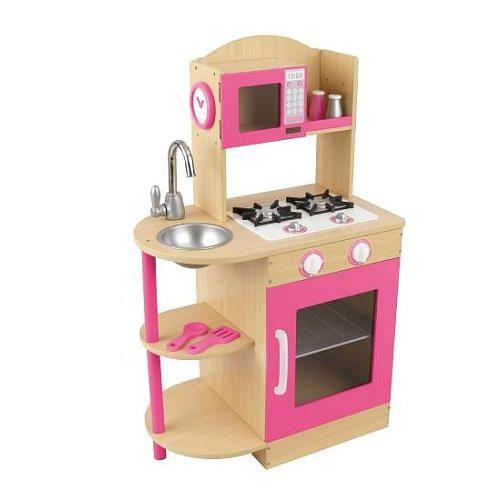 Kidkraft Toy Kitchen Modern Countertops Wooden Set Pink Toys R Us Play