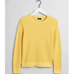 Photo of Gant Baumwoll Piqué Sweater (Gelb) Gant