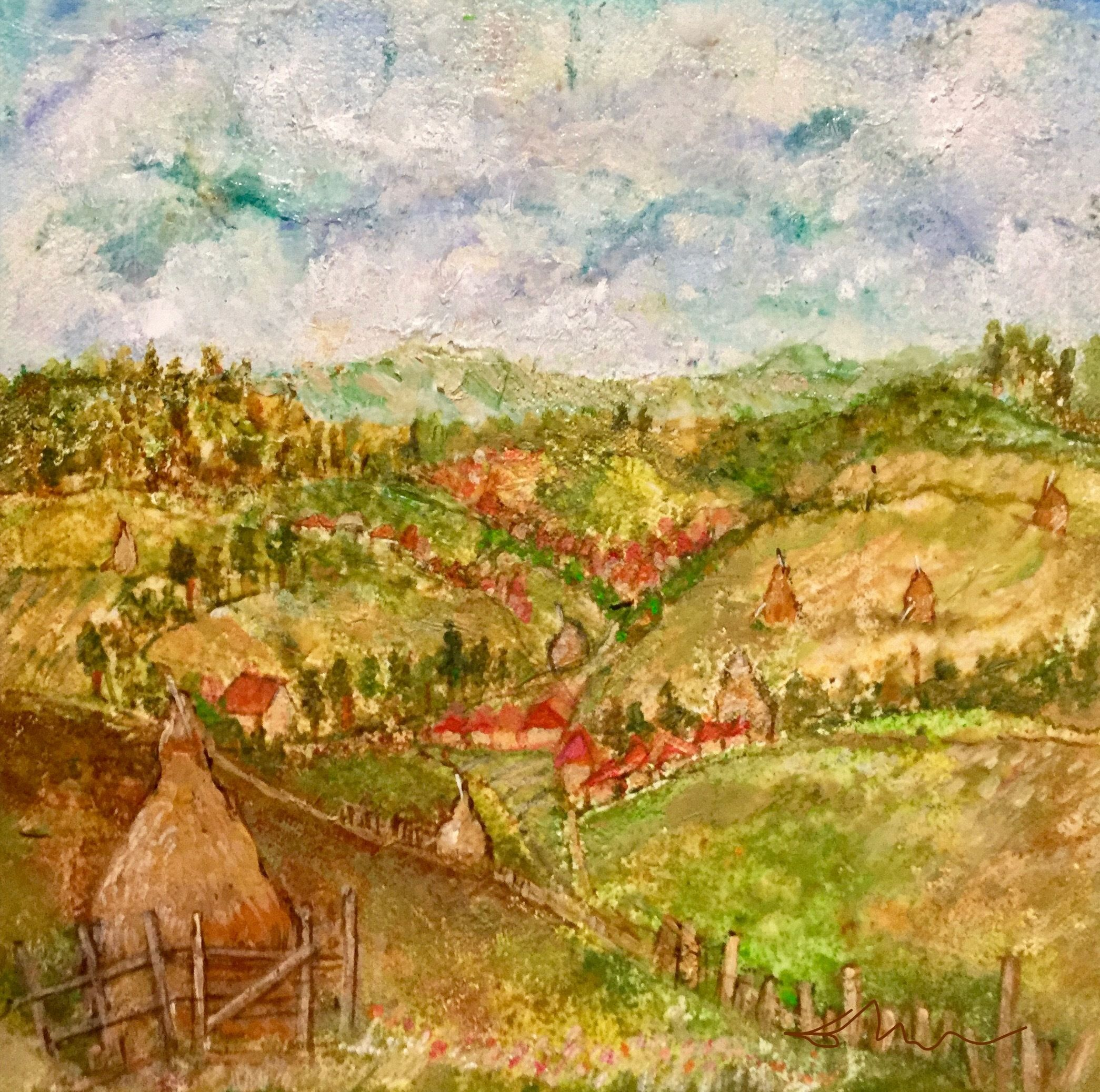 """For Sale: There is no need to fear the wind if your haystacks ate tied  by Delona Seserman 