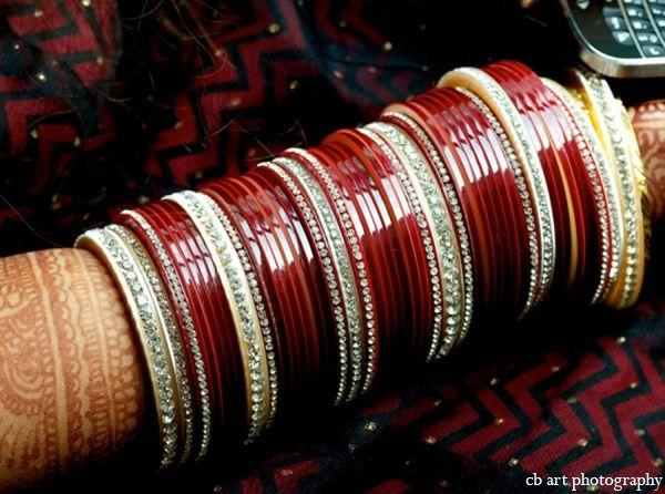 Indian Wedding Cream Bangles Red Maharaniweddings Gallery Photo