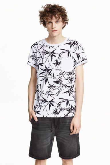 T-shirt com bolso no peito   H&M