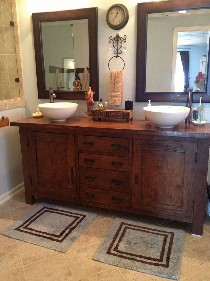From sideboard buffet to master bathroom vanity master for Master bathroom vanity